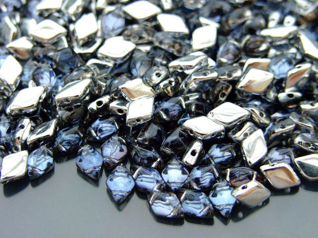 100g GemDuo Beads Backlit Periwinkle WHOLESALE-Michael's UK Jewellery