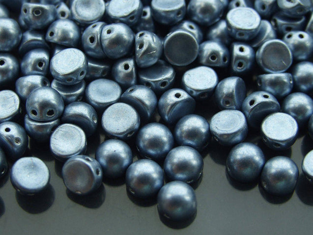 20x CzechMates Cabochon 7mm Saturated Metallic Airy Blue-Michael's UK Jewellery