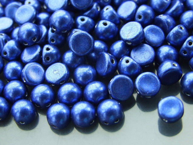 20x CzechMates Cabochon 7mm Saturated Metallic Lapis Blue-Michael's UK Jewellery