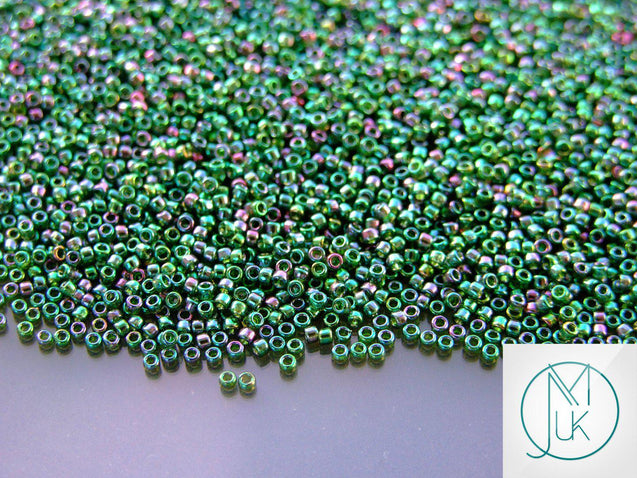 100g 322 Gold Luster Emerald Toho Seed Beads 15/0 1.5mm WHOLESALE-Michael's UK Jewellery