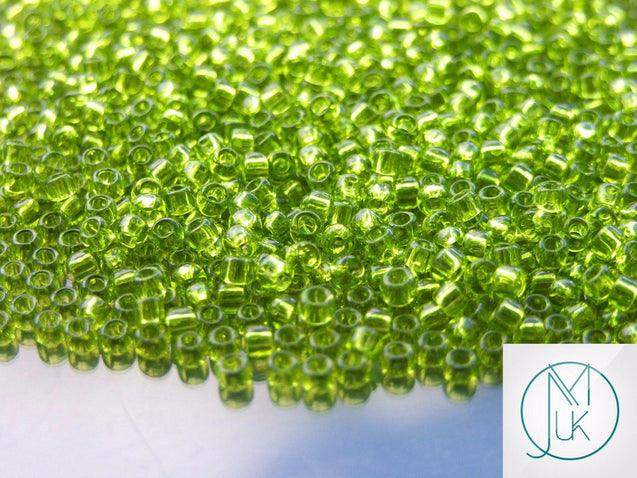 250g 4 Transparent Lime Green Toho Seed Beads 8/0 3mm WHOLESALE-Michael's UK Jewellery