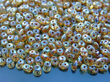 10g SuperDuo Beads Crystal Picasso-Matubo Glass Beads-Michael's UK Jewellery