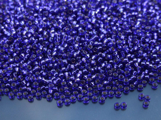 250g 91446 Dyed Silver Lined Red Violet Miyuki Japanese Seed Beads Round Size 11/0 2mm WHOLESALE-Michael's UK Jewellery
