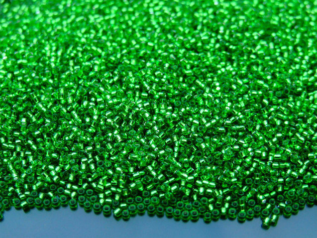 100g 27 Silver Lined Peridot Toho Seed Beads 15/0 1.5mm WHOLESALE-Michael's UK Jewellery