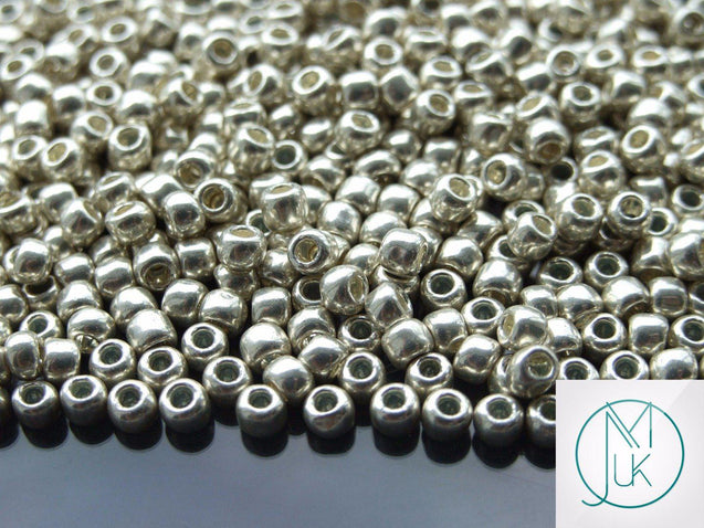 250g 558 Galvanized Aluminium Toho Seed Beads 6/0 4mm WHOLESALE-Michael's UK Jewellery