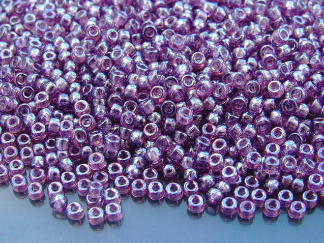 10g Amethyst Luster MATUBO Seed Beads 8/0 3mm-Matubo Glass Beads-Michael's UK Jewellery