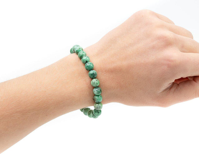 Variscite A Grade Natural Gemstone Bracelet 6-9'' Elasticated-Gemstone Bracelets-Michael's UK Jewellery
