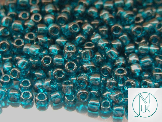 10g 7BD Transparent Capri Blue Toho Seed Beads Size 3/0 5.5mm-TOHO Glass Beads-Michael's UK Jewellery