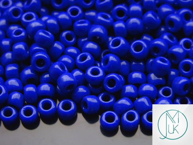 10g 48 Opaque Navy Blue Toho Seed Beads Size 3/0 5.5mm-TOHO Glass Beads-Michael's UK Jewellery