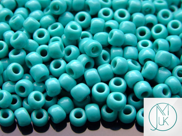 10g 55 Opaque Turquoise Toho Seed Beads Size 3/0 5.5mm-TOHO Glass Beads-Michael's UK Jewellery