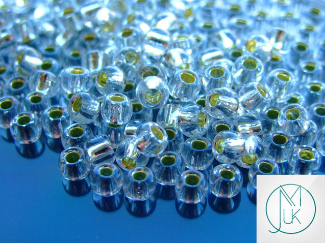 10g 21 Silver Lined Crystal Toho Seed Beads Size 3/0 5.5mm-TOHO Glass Beads-Michael's UK Jewellery