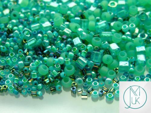 10g TohoTake (Seafoam-Green) Random Mix-TOHO Glass Beads-Michael's UK Jewellery