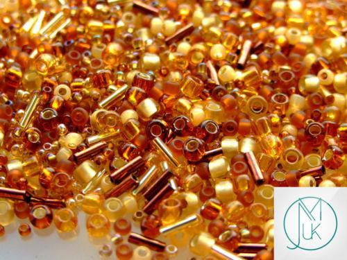 10g Toho Kohaku (Amber) Random Mix-TOHO Glass Beads-Michael's UK Jewellery