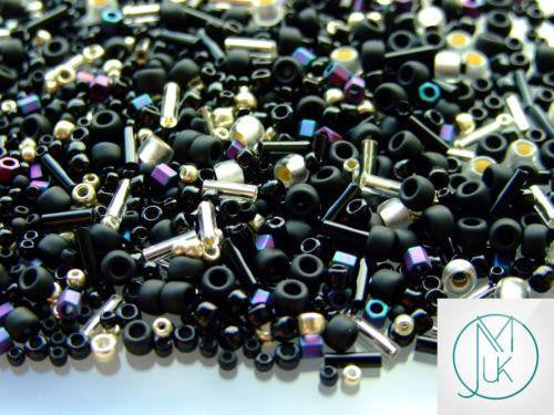 10g Toho Yozora (Jet-Silver) Random Mix-TOHO Glass Beads-Michael's UK Jewellery