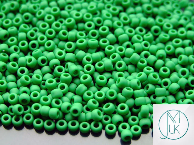10g 47DF Opaque Shamrock Frosted Toho Seed Beads 8/0 3mm-TOHO Glass Beads-Michael's UK Jewellery