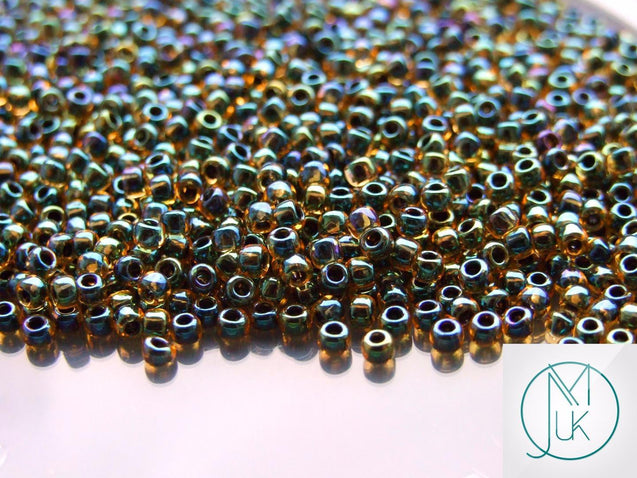 10g 244 Inside Color Light Topaz/Jet Toho Seed Beads 8/0 3mm-TOHO Glass Beads-Michael's UK Jewellery