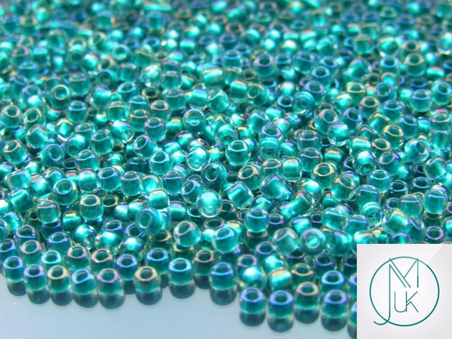 10g 264 Inside Color Crystal/Teal Rainbow Toho Seed Beads 8/0 3mm-TOHO Glass Beads-Michael's UK Jewellery