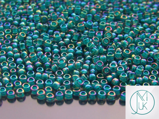 10g 1833 Inside Color Light Sapphire/Teal Toho Seed Beads 8/0 3mm-TOHO Glass Beads-Michael's UK Jewellery