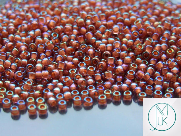 10g 1850 Inside Color Topaz/Muave Rainbow Toho Seed Beads 8/0 3mm-TOHO Glass Beads-Michael's UK Jewellery