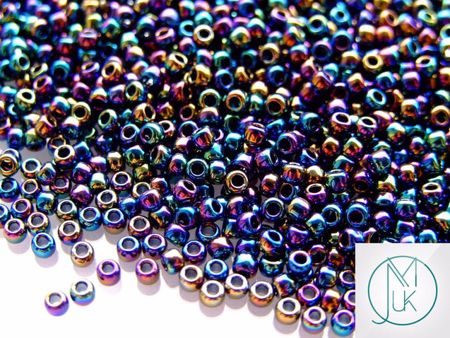 10g 86 Metallic Iris Rainbow Toho Seed Beads 8/0 3mm-TOHO Glass Beads-Michael's UK Jewellery