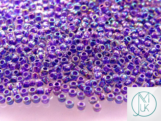 10g 181 Inside Color Crystal/Tanzanite Rainbow Toho Seed Beads 8/0 3mm-TOHO Glass Beads-Michael's UK Jewellery