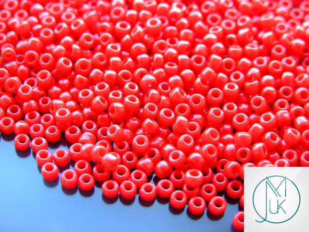 10g 45 Opaque Pepper Red Toho Seed Beads 8/0 3mm-TOHO Glass Beads-Michael's UK Jewellery