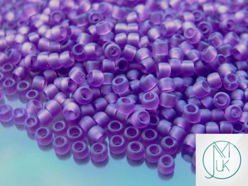 10g 6BF Transparent Medium Amethyst Frosted Toho Seed Beads 6/0 4mm-TOHO Glass Beads-Michael's UK Jewellery