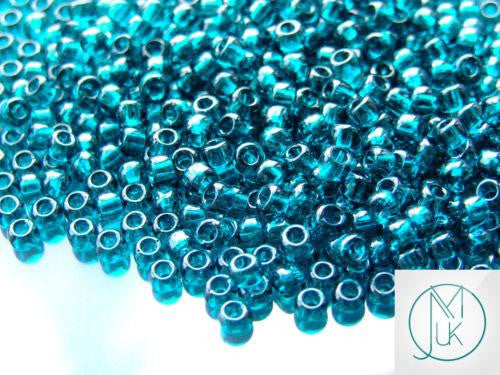 10g 7BD Transparent Capri Blue Toho Seed Beads 6/0 4mm-TOHO Glass Beads-Michael's UK Jewellery