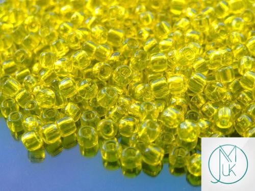 10g 12 Transparent Lemon Toho Seed Beads 6/0 4mm-TOHO Glass Beads-Michael's UK Jewellery