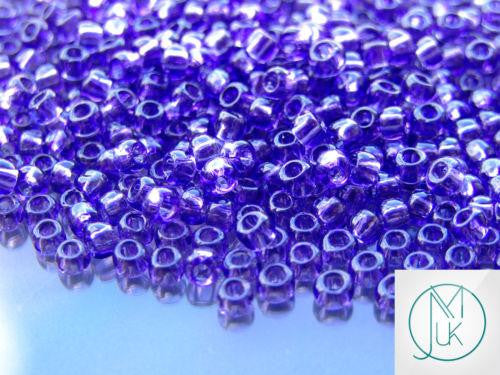 10g 19 Transparent Sugar Plum Toho Seed Beads 6/0 4mm-TOHO Glass Beads-Michael's UK Jewellery