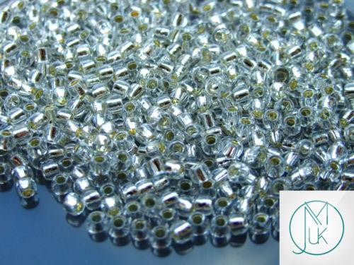 10g 21 Silver Lined Crystal Toho Seed Beads 6/0 4mm-TOHO Glass Beads-Michael's UK Jewellery
