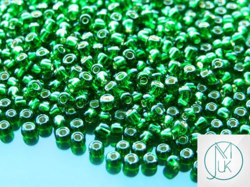 10g 27B Silver Lined Grass Green Toho Seed Beads 6/0 4mm-TOHO Glass Beads-Michael's UK Jewellery