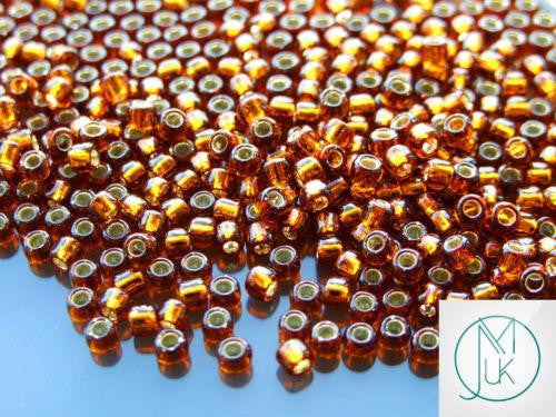 10g 34 Silver Lined Smoky Topaz Toho Seed Beads 6/0 4mm-TOHO Glass Beads-Michael's UK Jewellery