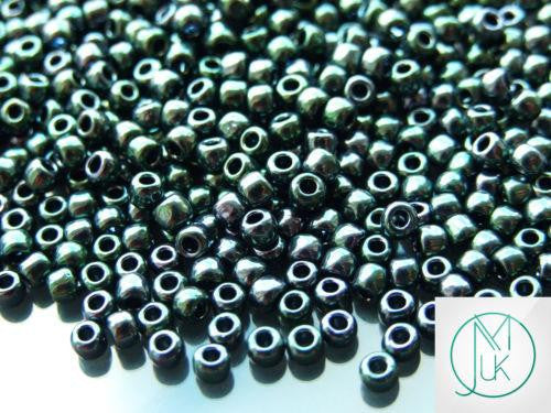 10g 89 Metallic Moss Toho Seed Beads 6/0 4mm-TOHO Glass Beads-Michael's UK Jewellery