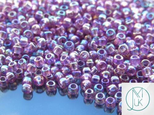 10g 166 Transparent Light Amethyst Rainbow Toho Seed Beads 6/0 4mm-TOHO Glass Beads-Michael's UK Jewellery