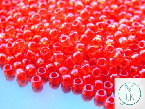 10g 5B Transparent Siam Ruby Toho Seed Beads 6/0 4mm-TOHO Glass Beads-Michael's UK Jewellery