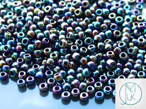 10g 86 Metallic Iris Rainbow Toho Seed Beads 6/0 4mm-TOHO Glass Beads-Michael's UK Jewellery