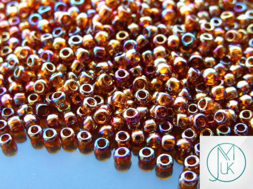10g 177 Transparent Smoky Topaz Rainbow Toho Seed Beads 6/0 4mm-TOHO Glass Beads-Michael's UK Jewellery