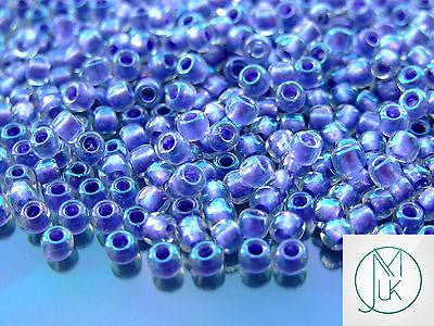 10g 265 Inside Color Crystal/Metallic Purple Lined Rainbow Toho Seed Beads 6/0 4mm-TOHO Glass Beads-Michael's UK Jewellery