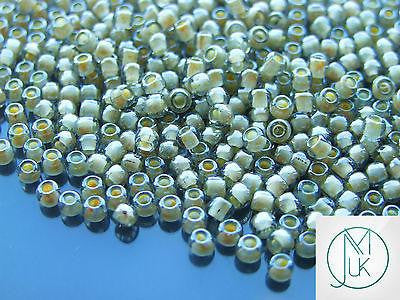 10g 369 Inside Color Black Diamond/Orange Creame Lined Toho Seed Beads 6/0 4mm-TOHO Glass Beads-Michael's UK Jewellery