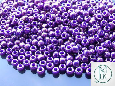 10g 461 Higher Metallic Grape Toho Seed Beads 6/0 4mm-TOHO Glass Beads-Michael's UK Jewellery