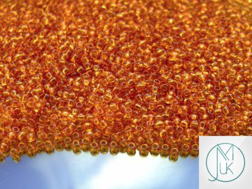10g 2C Transparent Topaz Toho Seed Beads 11/0 2.2mm-TOHO Glass Beads-Michael's UK Jewellery