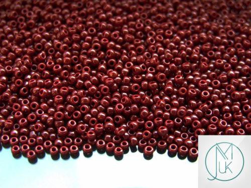 10g 46 Opaque Oxblood Toho Seed Beads 11/0 2.2mm-TOHO Glass Beads-Michael's UK Jewellery