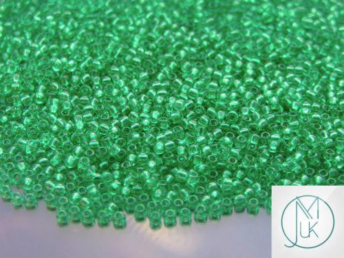 10g 72 Transparent Beach Glass Green Toho Seed Beads 11/0 2.2mm2.2mm-TOHO Glass Beads-Michael's UK Jewellery