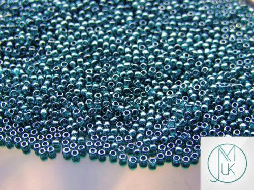 10g 108BD Transparent Teal Luster Toho Seed Beads 11/0 2.2mm-TOHO Glass Beads-Michael's UK Jewellery