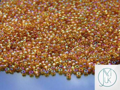 10g 162B Transparent Topaz Rainbow Toho Seed Beads 11/0 2.2mm-TOHO Glass Beads-Michael's UK Jewellery