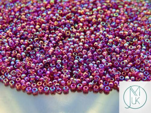 10g 166B Transparent Medium Amethyst Toho Seed Beads 11/0 2.2mm-TOHO Glass Beads-Michael's UK Jewellery