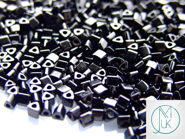 10g 49 Opaque Jet Toho Triangle Seed Beads 8/0 3mm-TOHO Glass Beads-Michael's UK Jewellery