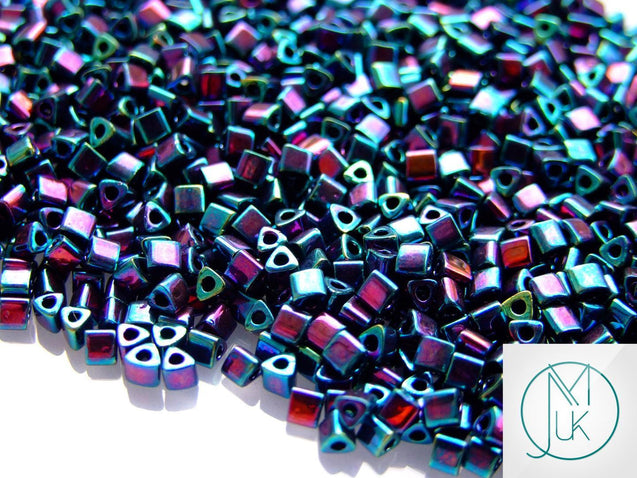 10g 505 Higher Metallic Dragonfly Toho Triangle Seed Beads 8/0 3mm-TOHO Glass Beads-Michael's UK Jewellery