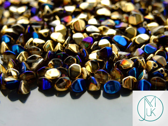10g Pinch Kumihimo Beads Crystal California Blue-Matubo Glass Beads-Michael's UK Jewellery